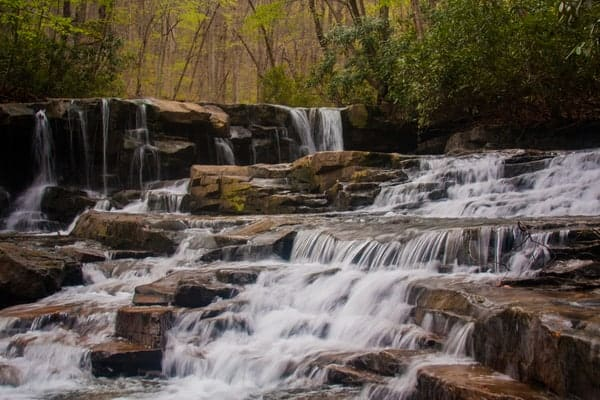 How to get to Upper Jonathan Run Falls in Ohiopyle State Park of Pennsylvania