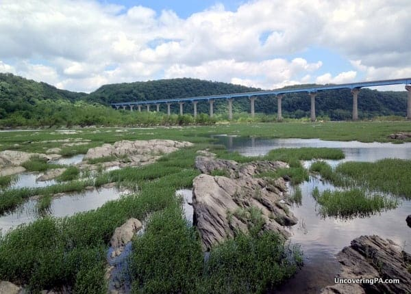 The beautiful Susquehanna River just a few minutes walk from the remains of Lock 12.