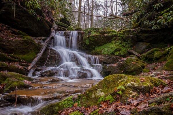 Upper Mill Creek Falls along the Mason-Dixon Trail in York County, Pennsylvania.