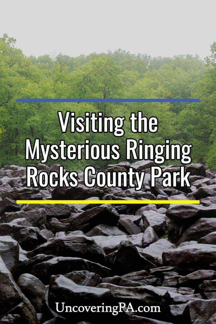 Visiting the mysterious Ringing Rocks County Park in Bucks County, Pennsylvania