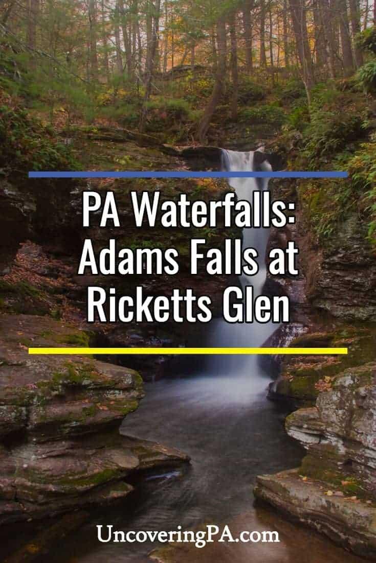 Pennsylvania Waterfalls: Adams Falls in Ricketts Glen State Park
