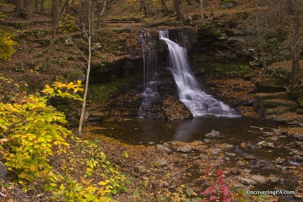 Overlooking Dry Run Falls, only steps from the parking area. Even if you can't hike, this waterfall can be easily seen.