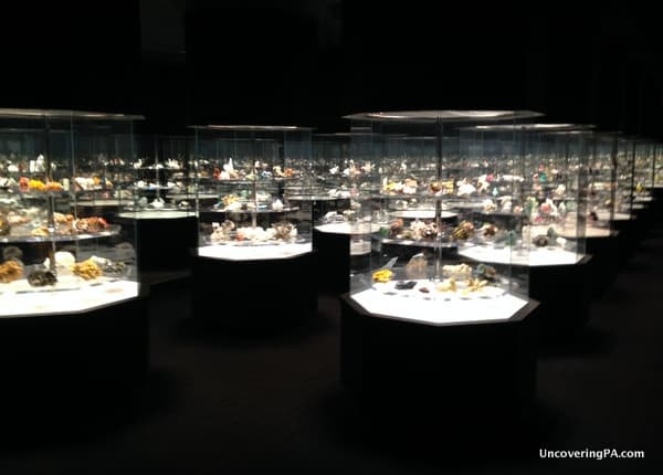 A collection of beautiful gemstones at the Carnegie Museum of Natural History in Pittsburgh, Pennsylvania.