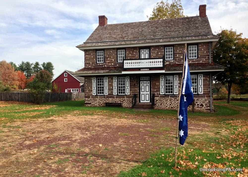 Visiting the Peter Wentz Farmstead in Montgomery County, Pennsylvania.