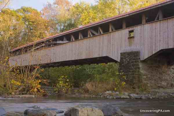Academia Pomeroy Covered Bridge - Visiting the Covered Bridges of Juniata County, Pennsylvania.
