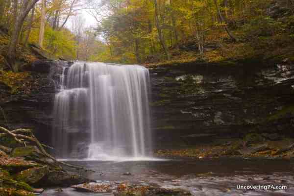 Harrison Wright Falls in Ricketts Glen State Park.