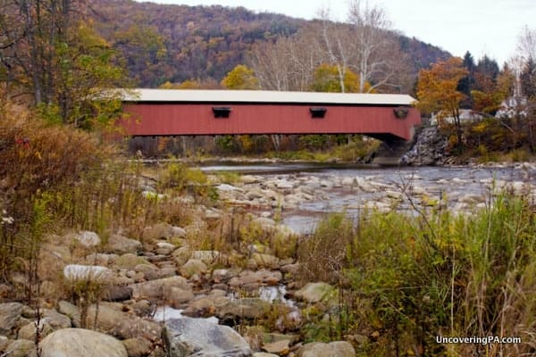 Forksville Covered Bridge near Worlds End State Park