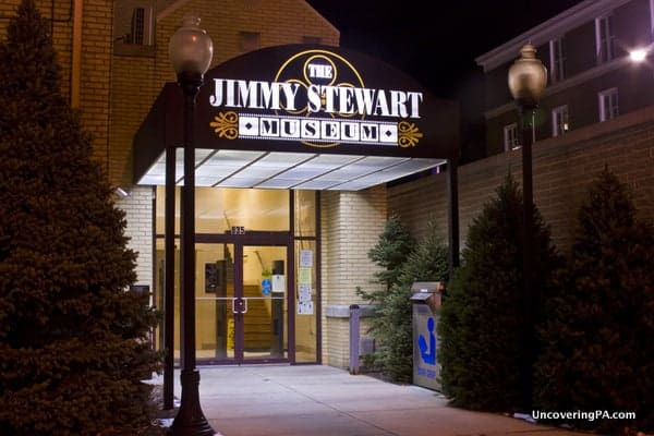 Visiting the Jimmy Stewart Museum in downtown Indiana, Pennsylvania.