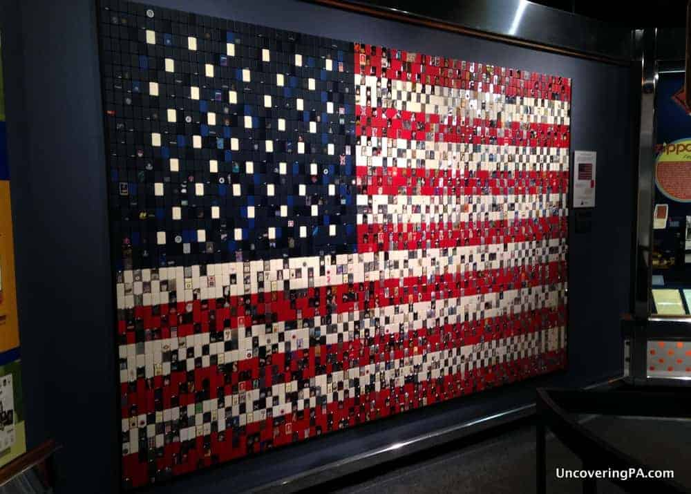 Visiting the Zippo Museum in Bradford, Pennsylvania.