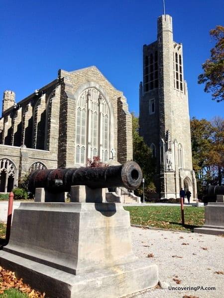 The beautiful Washington Memorial Chapel at Valley Forge National Historical Park.