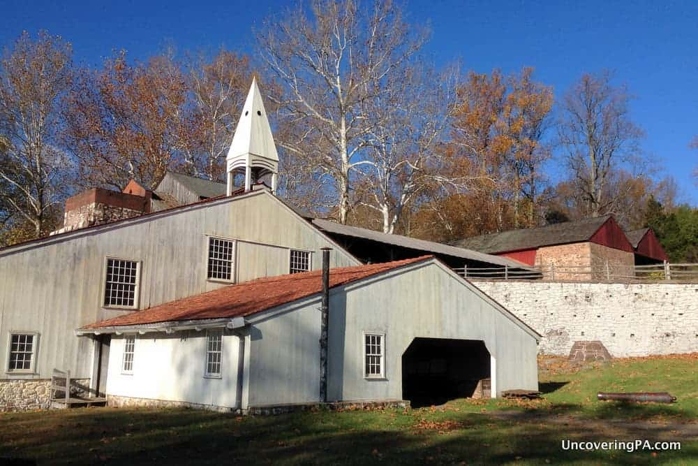 VIsiting Hopewell Furnace National Historic Site in Pennsylvania.