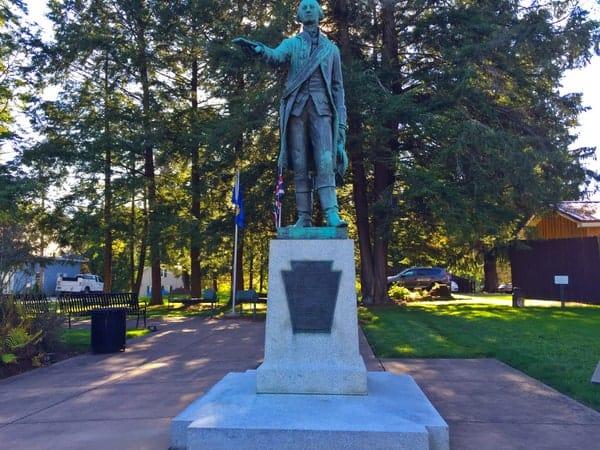 George Washington Statue in Waterford Pennsylvania