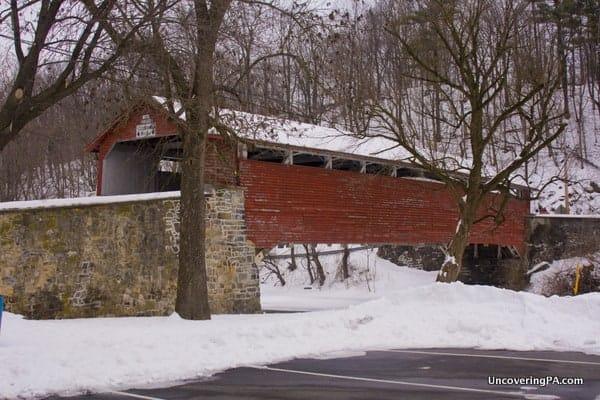 Manasses Guth Covered Bridge in Allentown, Pennsylvania's Covered Bridge Park.