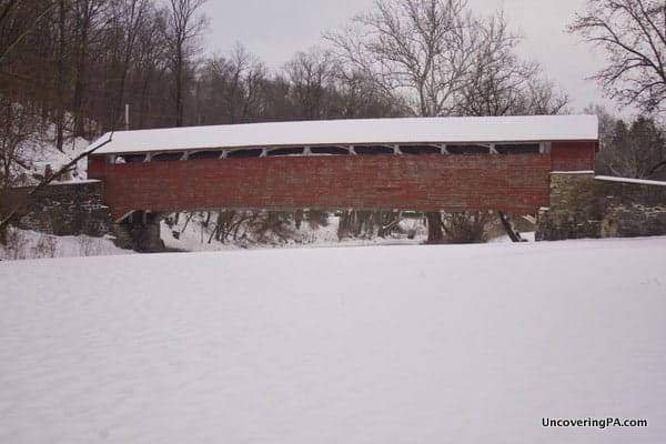 How to get to Manasses Guth Covered Bridge in Lehigh County, Pennsylvania.