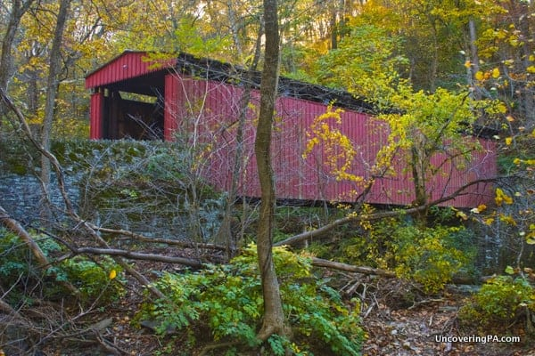 How to get to Thomas Mill Covered Bridge in Philadelphia, Pennsylvania.