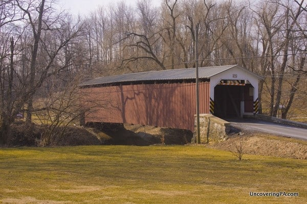 Lime Valley Covered Bridge in Lancaster County, Pennsylvania.