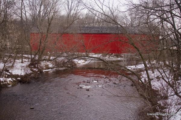Mood's Covered Bridge in Bucks County, Pennsylvania.