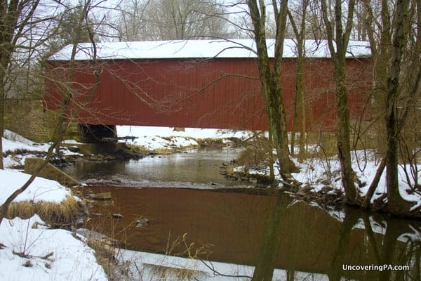 Pine Valley Covered Bridge in Bucks County, Pennsylvania