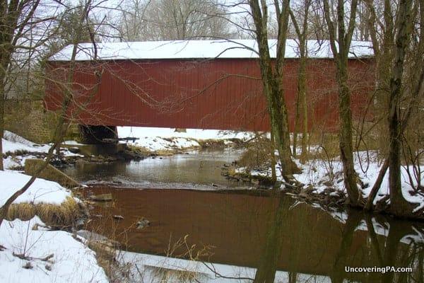 Pine Valley Covered Bridge in Bucks County, Pennsylvania