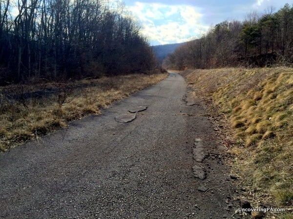 The remains of the Pennsylvania Turnpike near Sideling Hill Tunnel.