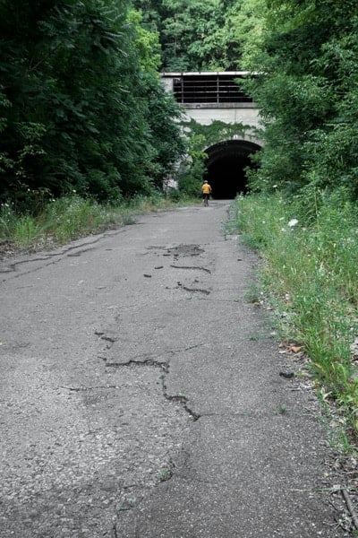 Biking the Abandoned Pennsylvania Turnpike