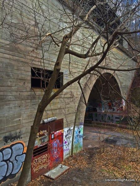 Rays Hill Tunnel on the Abandoned PA Turnpike near Breezewood, Pennsylvania.