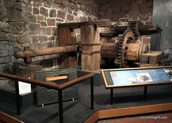 A part of the museum at Cornwall Iron Furnace in Pennsylvania.