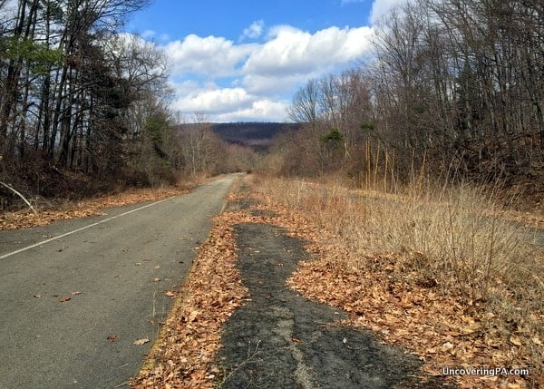 What's left of the Abandoned PA Turnpike in Bedford County, Pennsylvania.