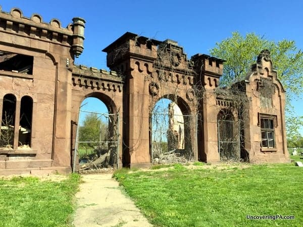 Gate House at Mount Moriah Cemetery in Philly