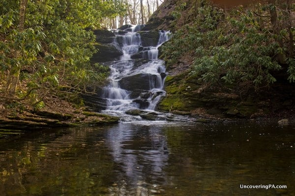 Upper Slateford Creek Falls in the Lehigh Valley of PA