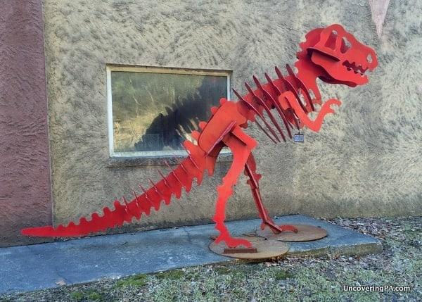 Stinson the Dinosaur in the Poconos