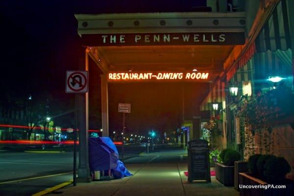 Tthe Penn Wells Hotel in downtown Wellsboro, PA