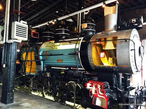 Steam locomotive at Steamtown National Historic Site