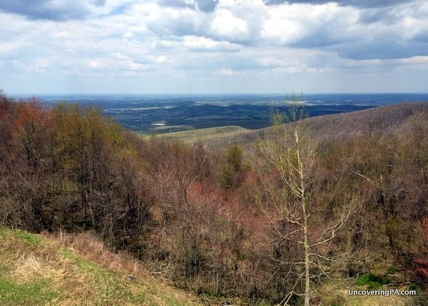 View from Laurel Caverns Visitors Center in PA