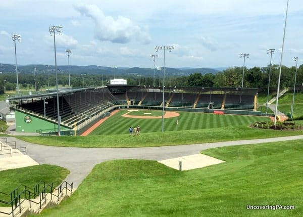 Howard J Lamade Stadium, home of the Little League World Series, in South Williamsport, PA.
