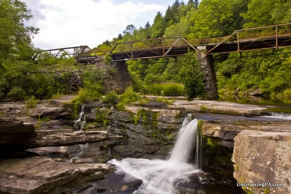 Tanners Falls in Honesdale PA