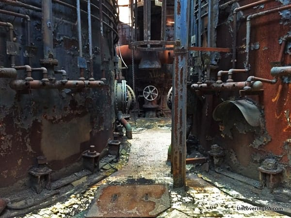 Inside Carrie Furnace in Pittsburgh PA