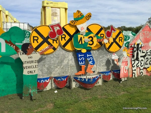 Penn Dot Road Sign Sculpture Garden Meadville