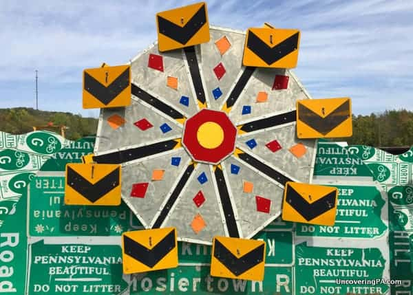 PennDot Road Sign Sculpture Graden Meadville Pennsylvania