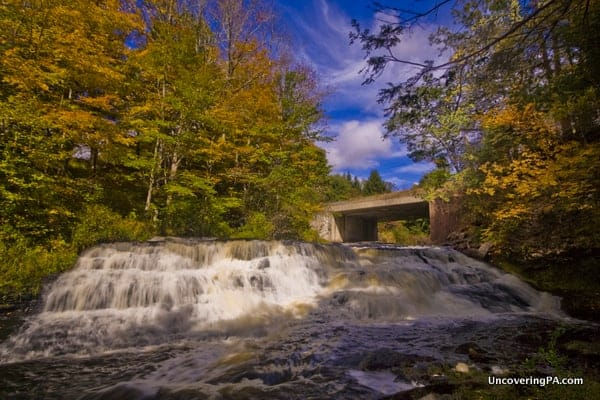 Uppermost Raymondskill Falls on Raymondskill Creek Delaware Water Gap PA