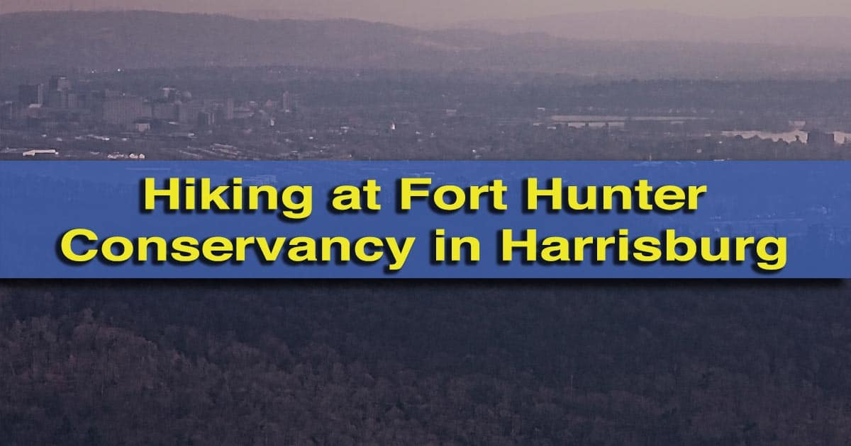 Hiking Fort Hunter Conservancy in Harrisburg, Pennsylvania