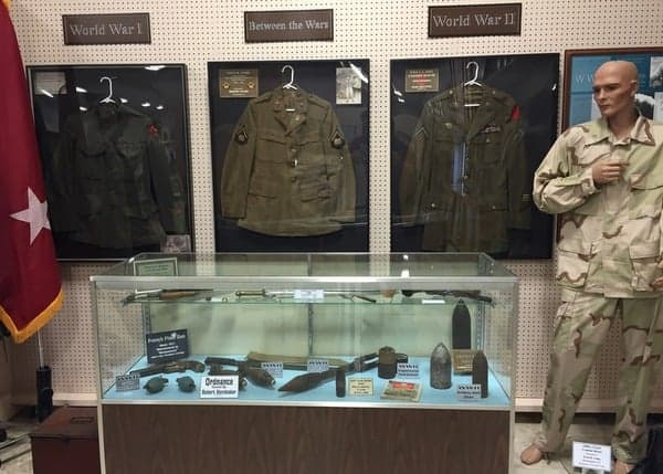 Military Items at the Isett Heritage Museum in Huntingdon County, Pennsylvania
