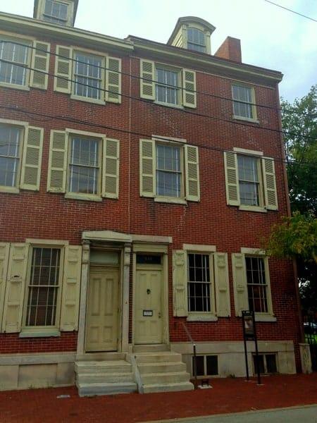 Outside the Edgar Allan Poe National Historic Site, Philadelphia, PA