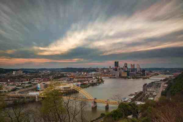 Best photo spots in PIttsburgh - West End Overlook
