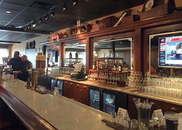 Bar at Doc G's Brewing Company in DuBois, Pennsylvania.