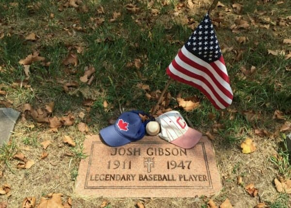 Josh Gibson's grave, Baseball Hall of Famer, near Pittsburgh, Pennsylvania