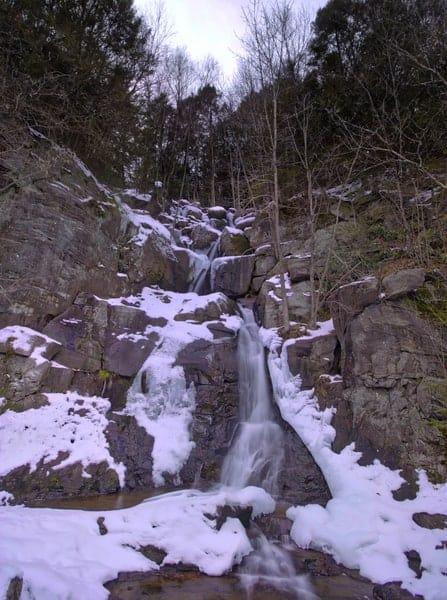 Buttermilk Falls in Lehigh Gorge State Park near Jim Thorpe, Pennsylvania.