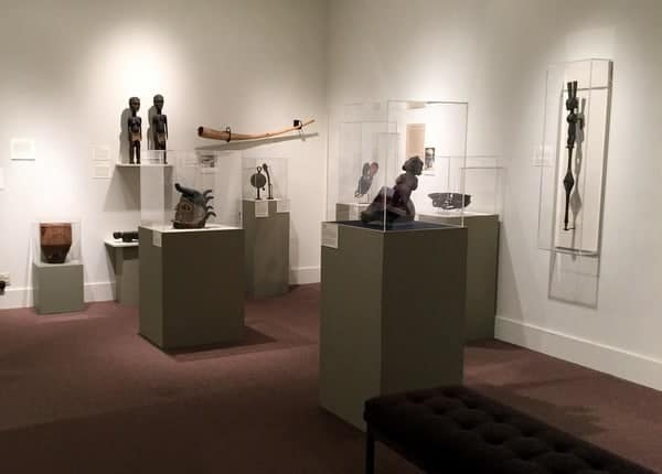 African artifacts at the Everhart Museum in Scranton, Pennsylvania.