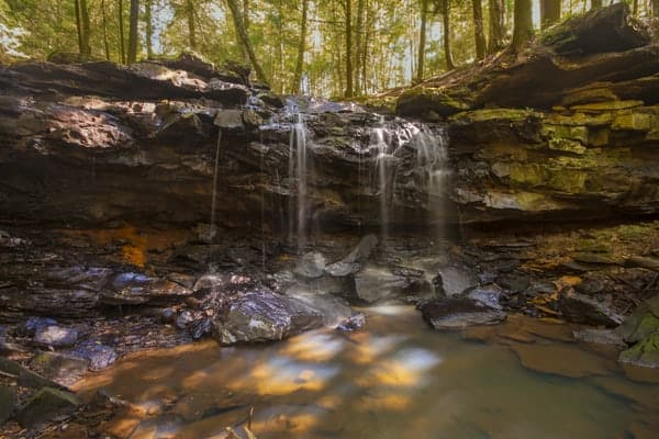 Potter Falls is the second waterfall you'll visiting in our northwestern Pennsylvania waterfall road trip.