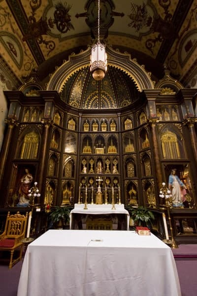 Relics at Saint Anthony's Chapel in Pittsburgh, Pennsylvania
